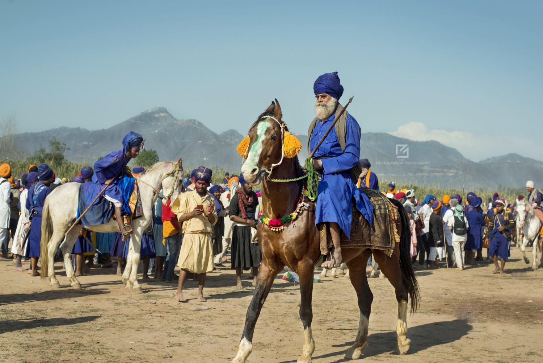 Nihang Rider at Mela Ground